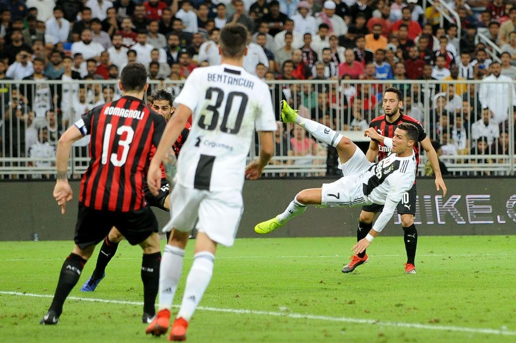 ¡El 'Comandante'! Cristiano Ronaldo le anotó gol al Milan en la Supercopa de Italia