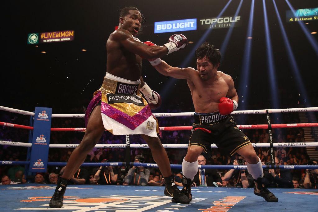 ¡Regresó el 'Pac-man'! Pacquiao derrotó a Adrien Broner y lo tuvo al borde del KO