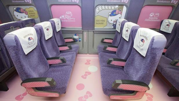 ¡Súbale! El tren rápido de Hello Kitty está por arrancar