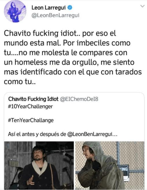 ¡Uy, perdón! León Larregui mandó ALV su Twitter por el #10YearChallenge