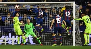 ¡Van los goles! Levante sorprendió al Barcelona en la Copa del Rey