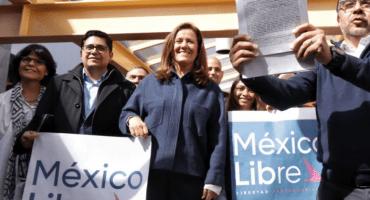 Margarita Zavala le cae al INE para registrar México Libre, un nuevo partido político