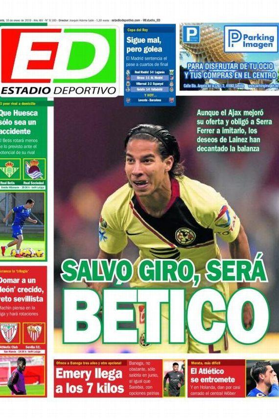 Diego Lainez no viajará con América y apunta al Betis