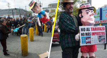 Y en Nuevo León, revientan piñata del Bronco 'Pinocho' por aumento de impuestos