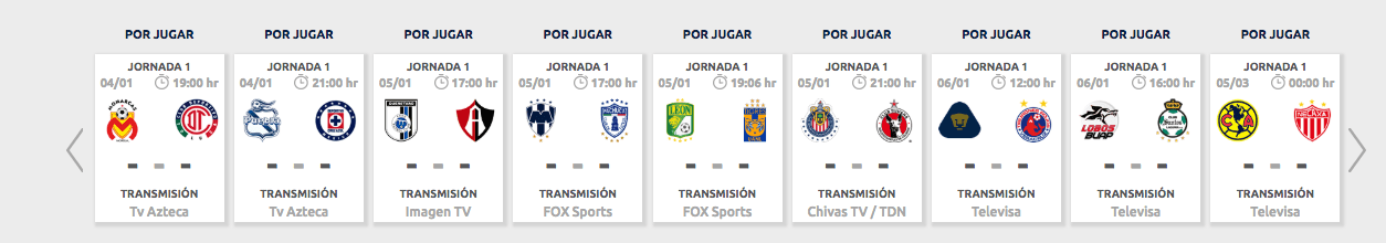 ¿Cómo, cuándo y dónde ver en vivo la Jornada 1 del Clausura 2019?
