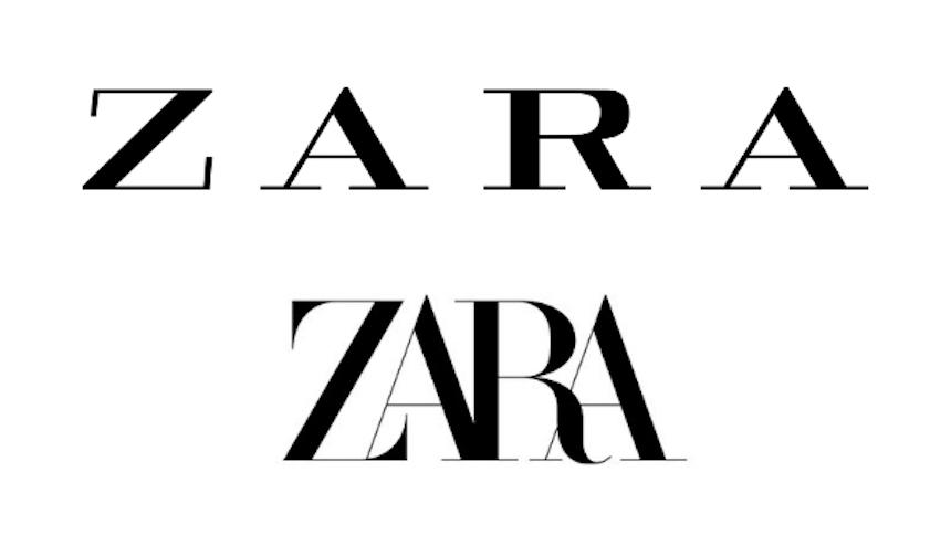 Zara se renueva y cambia de logotipo