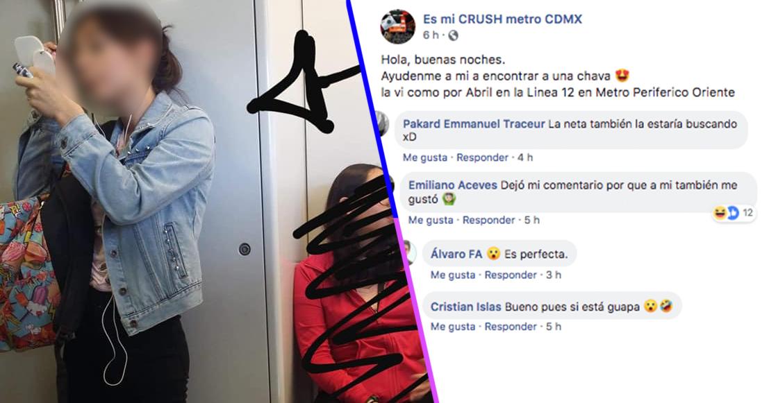 """¿Amor o acoso? Una página de Facebook te """"ayuda"""" a encontrar a tu crush del metro"""