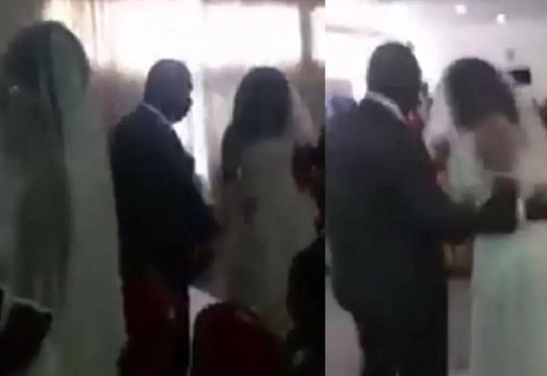 La amante de un sujeto aparece vestida de novia... ¡justo en el día de su boda!