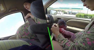 ¡Qué valiente! Esta mujer no tuvo opción más que tener a su bebé en el auto y fue hermoso