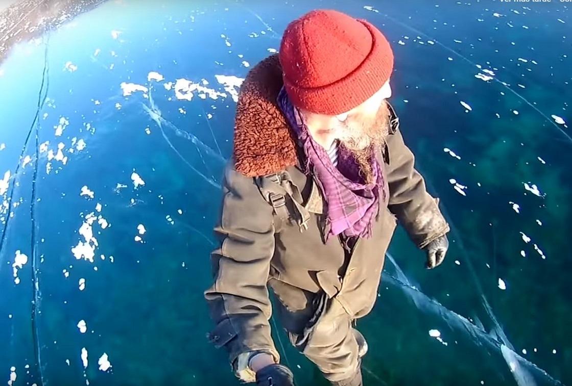 Caminando en el Baikal, el lago más profundo del mundo