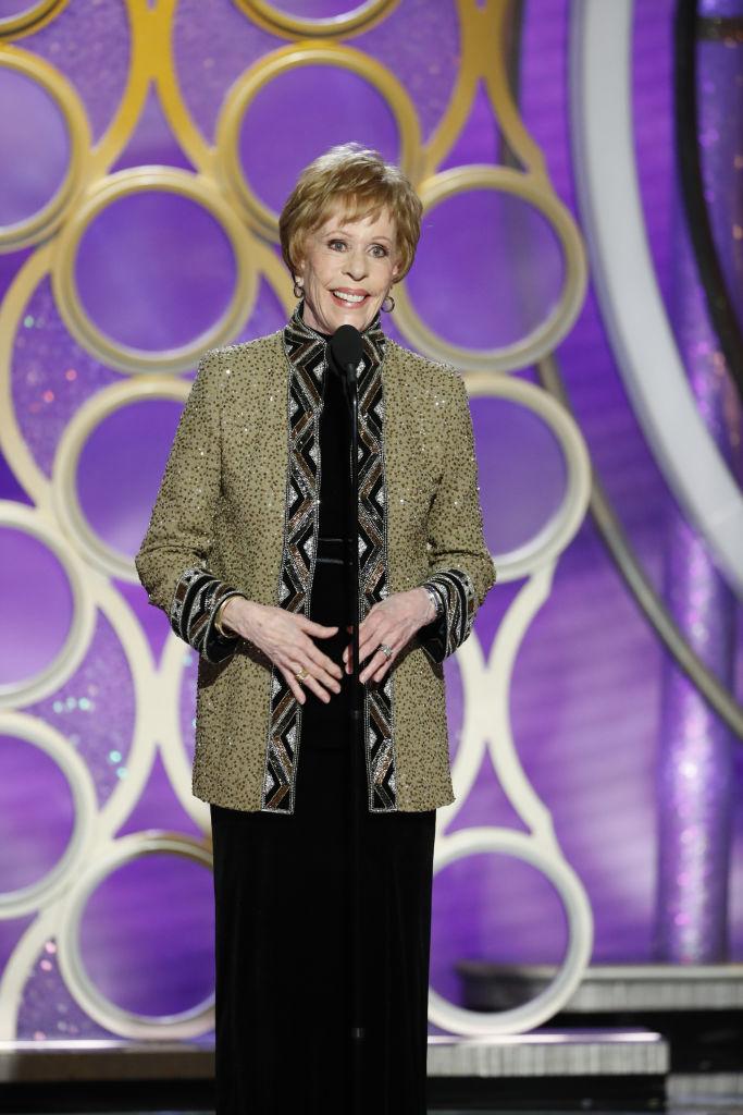 Carol Burnett pasó de hacernos reír a hacernos llorar con su discurso en los Golden Globes 2019