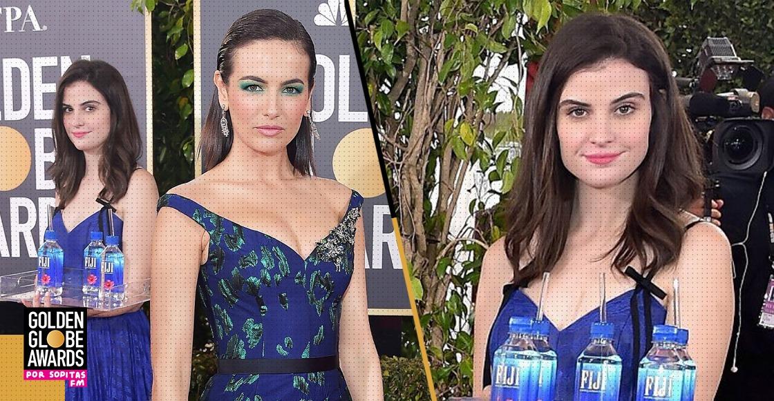 Internet enloqueció con la chica que repartía agua en los Golden Globes 2019