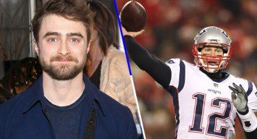 Como cuando Daniel Radcliffe le tira durísimo a Tom Brady en plena entrevista