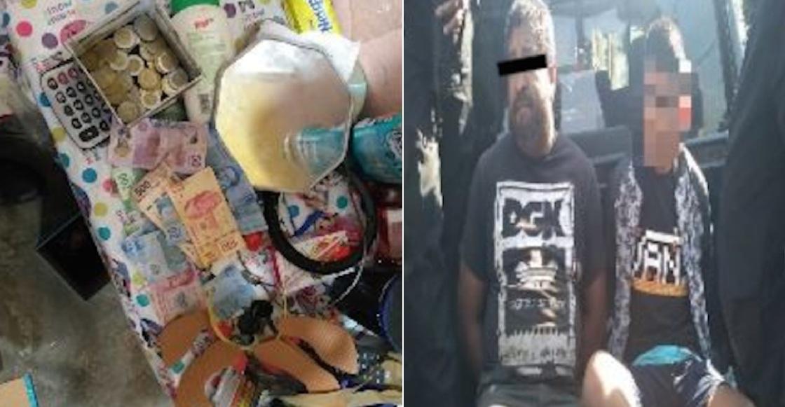 Policías capitalinos detienen a un hombre y un niño por vender gasolina en la GAM