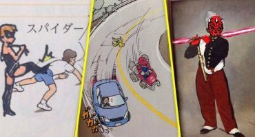 En México y en Japón, ¡dibujar en los libros es todo un arte!