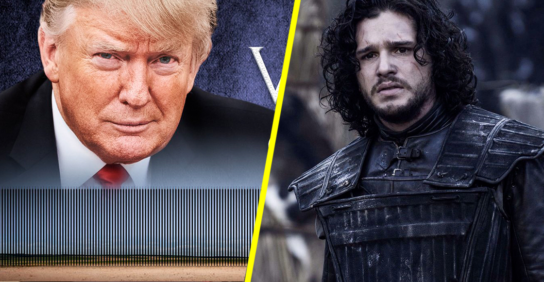 "Donald Trump advierte que ""El muro is coming"" con póster al estilo GoT"