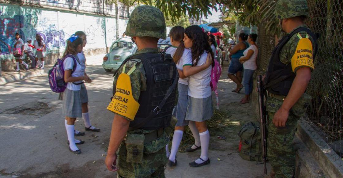 El ejército vigilará el regreso a clases en Acapulco y Chilapa, Guerrero