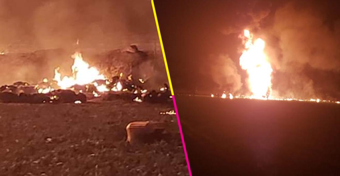 Se reporta la explosión de una toma clandestina de un ducto de Pemex en Tlahuelilpan, Hidalgo