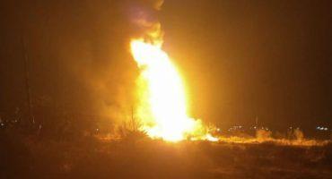 Se registra incendio en toma clandestina en San Agustín Tlaxiaca, Hidalgo