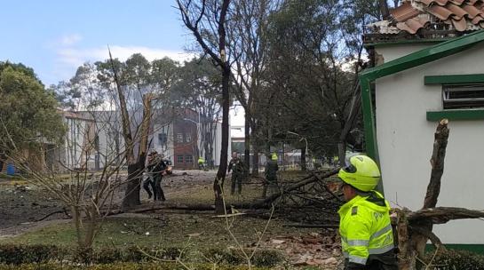 Explosión de coche bomba en Bogotá, Colombia