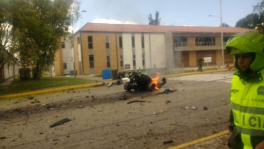 Explosión de coche bomba en Colombia