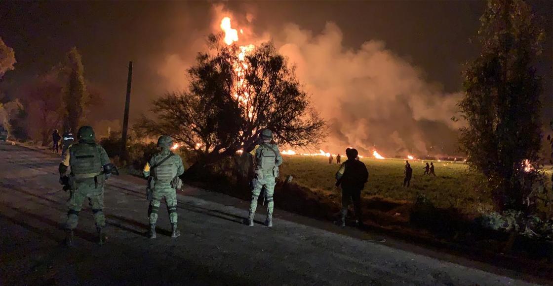 Se reporta explosión de una toma clandestina en un ducto de Pemex en Tlahuelilpan, Hidalgo