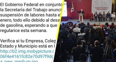 ¡Aguas con las fake news! El Gobierno no suspenderá labores por