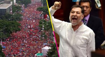 Fernandez Noroña intenta defender a Nicolás Maduro... nomás que usó una foto falsa