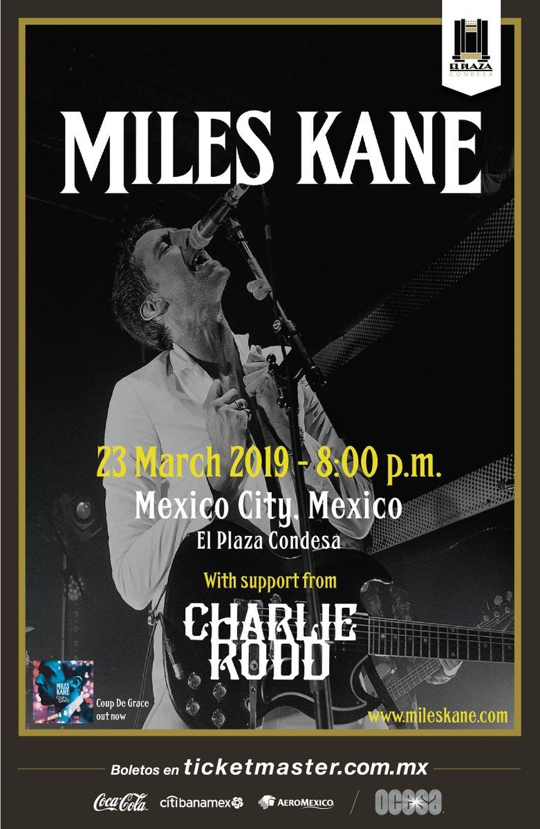 ¡Qué manera de iniciar la primavera! ¡Miles Kane regresa a México en marzo!