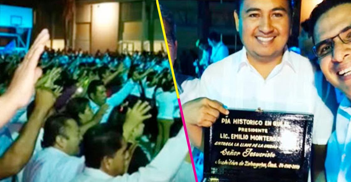 Pa' pedir ayuda divina: Presidente municipal de Juchitán le entrega las llaves de la ciudad a Dios