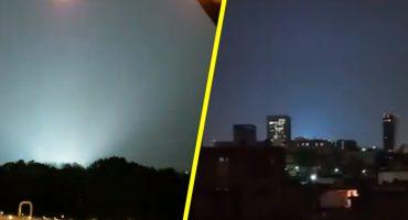 ¿Qué fue lo que provocó que se vieran luces extrañas en el cielo de la CDMX? 樂