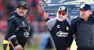 Cual diva, Maradona exigió a policías alejar a los fotógrafos para que no lo molestaran