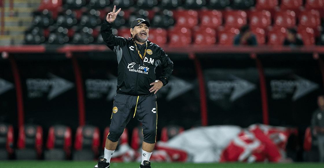 Las primeras palabras de Maradona después de recibir el alta y firmar con Dorados