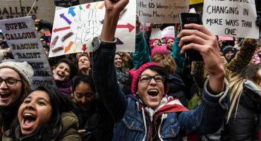 Así se llevó a cabo la marcha favor de la mujer y en contra de Trump en E.U.