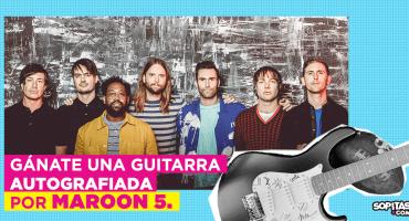 ¡Sopitas.com te regala una guitarra autografiada por Maroon 5!