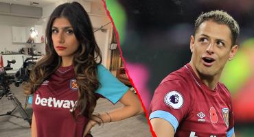 Mia Khalifa presume proyecto con playera del West Ham, el club de 'Chicharito'