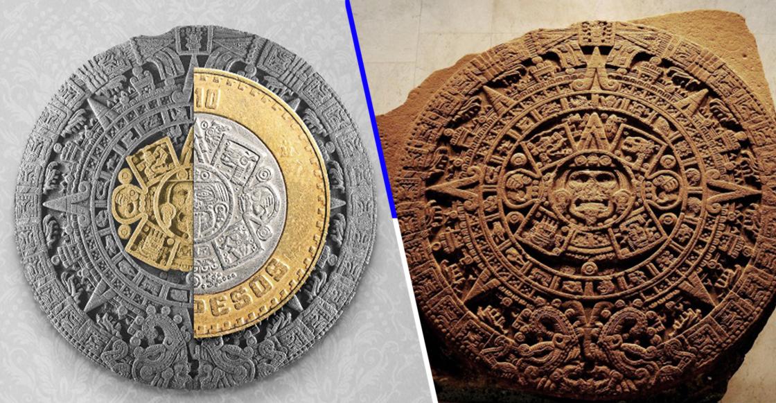 ¿Lo sabían? Si unen estas monedas pueden crear el calendario azteca