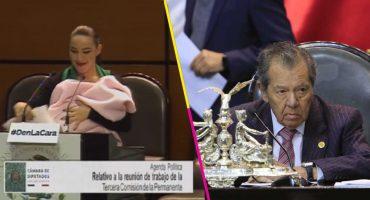 Por comentario a senadora que subió a tribuna con bebé, PAN acusa misoginia de Muñoz Ledo