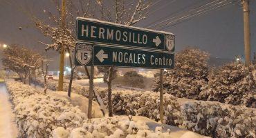 Cayó tremenda nevada en Nogales, Sonora, y tienen que ver las fotos
