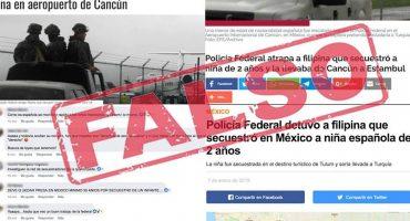 ¡Aguas! Desmienten la historia de la niña secuestrada en Cancún y que se llevaban a Turquía