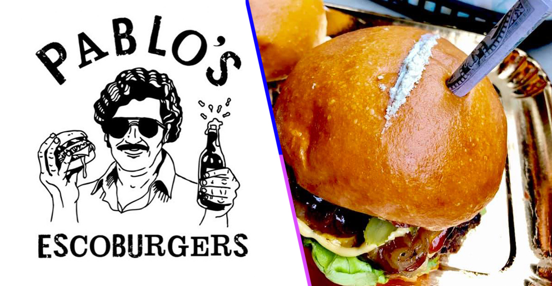 ¿Hambre de la mala? Alguien inventó hamburguesas de Pablo Escobar