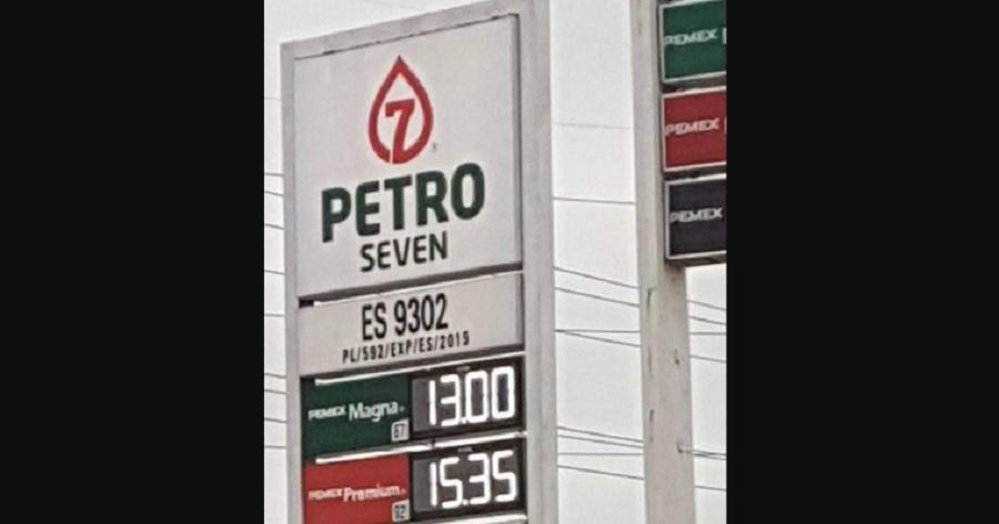 Precio de gasolina en norte de México