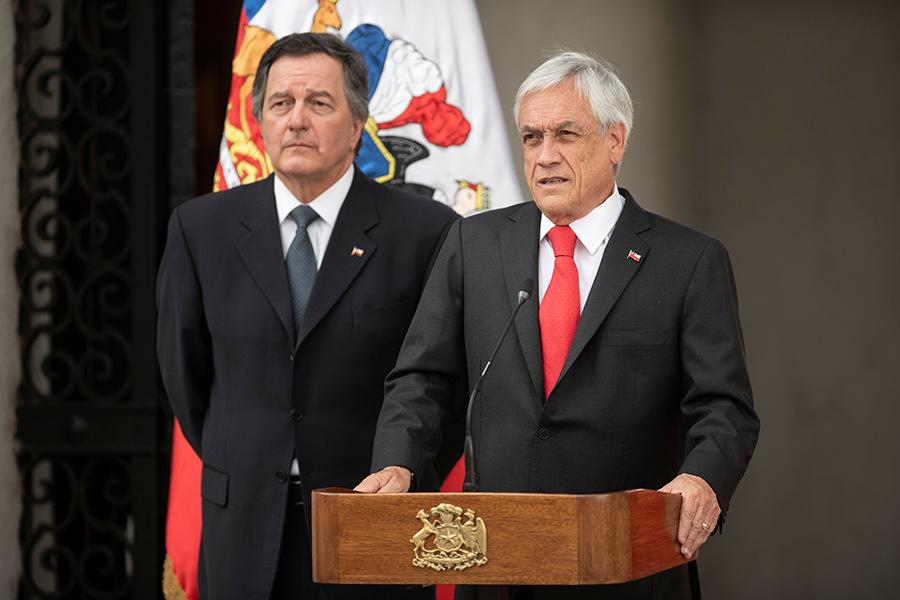El presidente de Chile, Sebastián Piñera, se autodenunciará por no usar cubrebocas