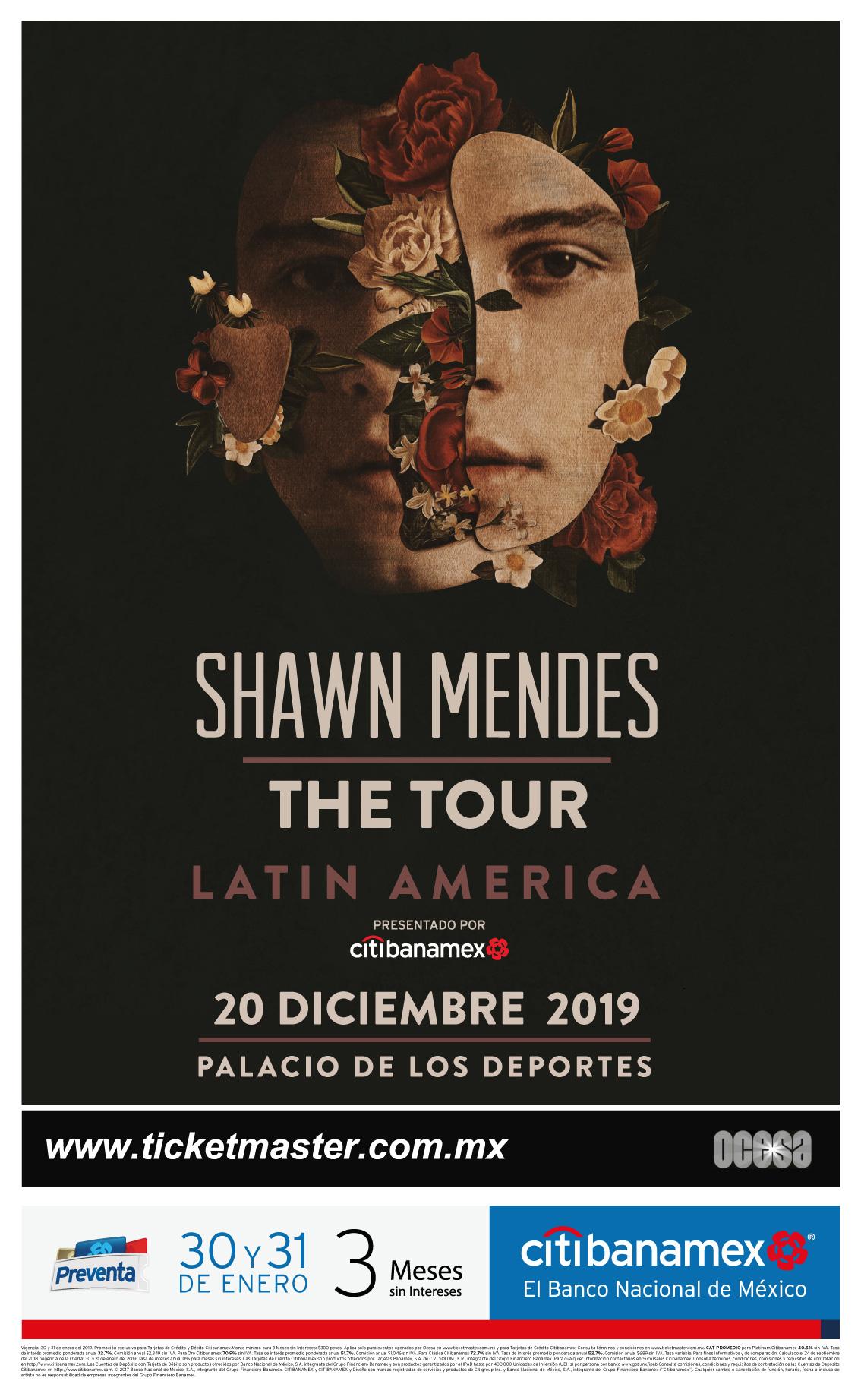 ¡Shawn Mendes volverá a México para un concierto en el Palacio de los Deportes!