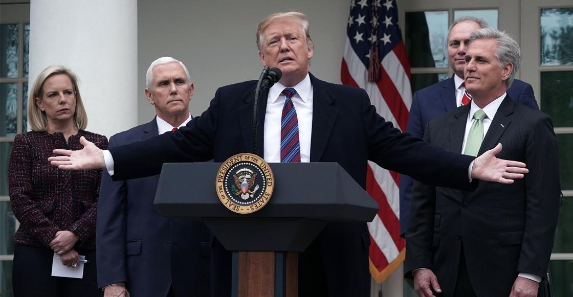 Dice Trump que si quiere, puede declarar estado de emergencia para financiar el muro