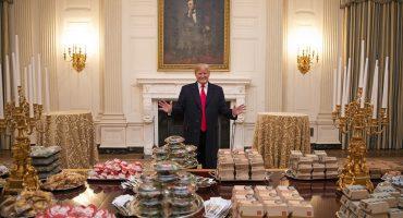Cena de campeones: así recibió Trump a equipo de fútbol americano en la Casa Blanca