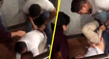 Usuarios del metro golpean y le aplican