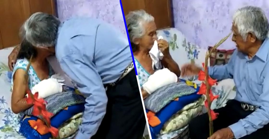 """""""Te sigo queriendo como estés"""": Este hombre le declaró su amor a su esposa una vez más"""