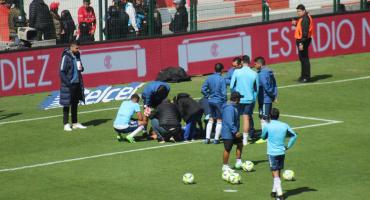 La insólita lesión del portero del Puebla; se 'tronó' en el calentamiento