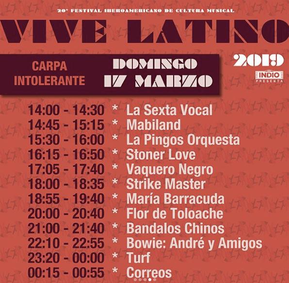 ¡Ya están los horarios del Vive Latino! Acá te damos toda la información: